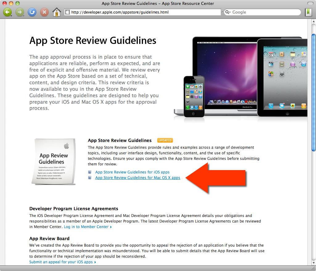 Statement by Apple on App Store Review Guidelines