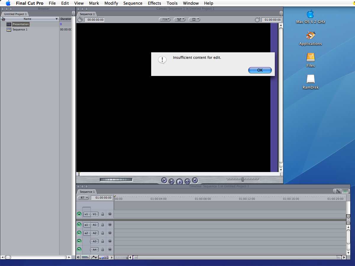 Final Cut Pro PowerPoint presentation movies
