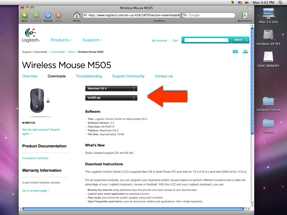Logitech Wireless Mouse M505 Driver Download