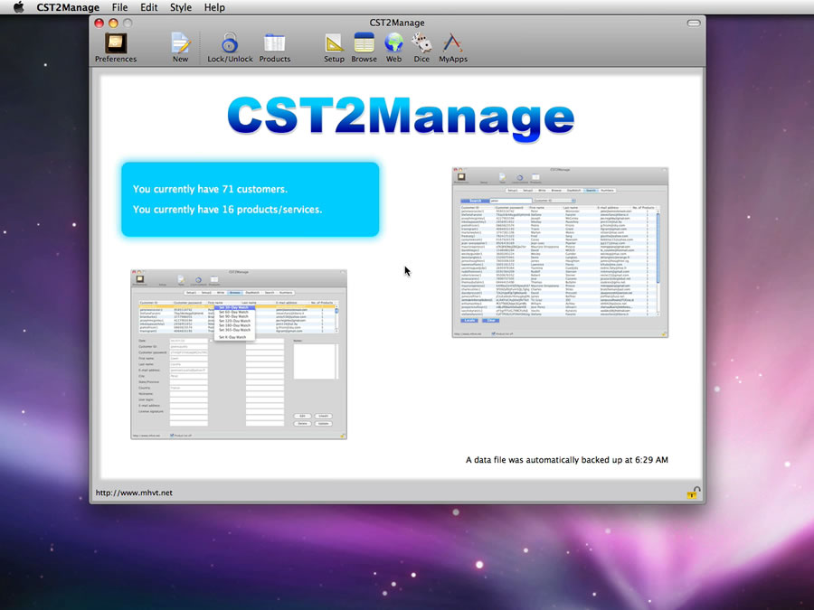Mac software CST2Manage
