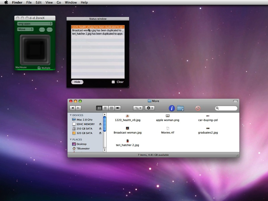 Mac software d-d ZoneX