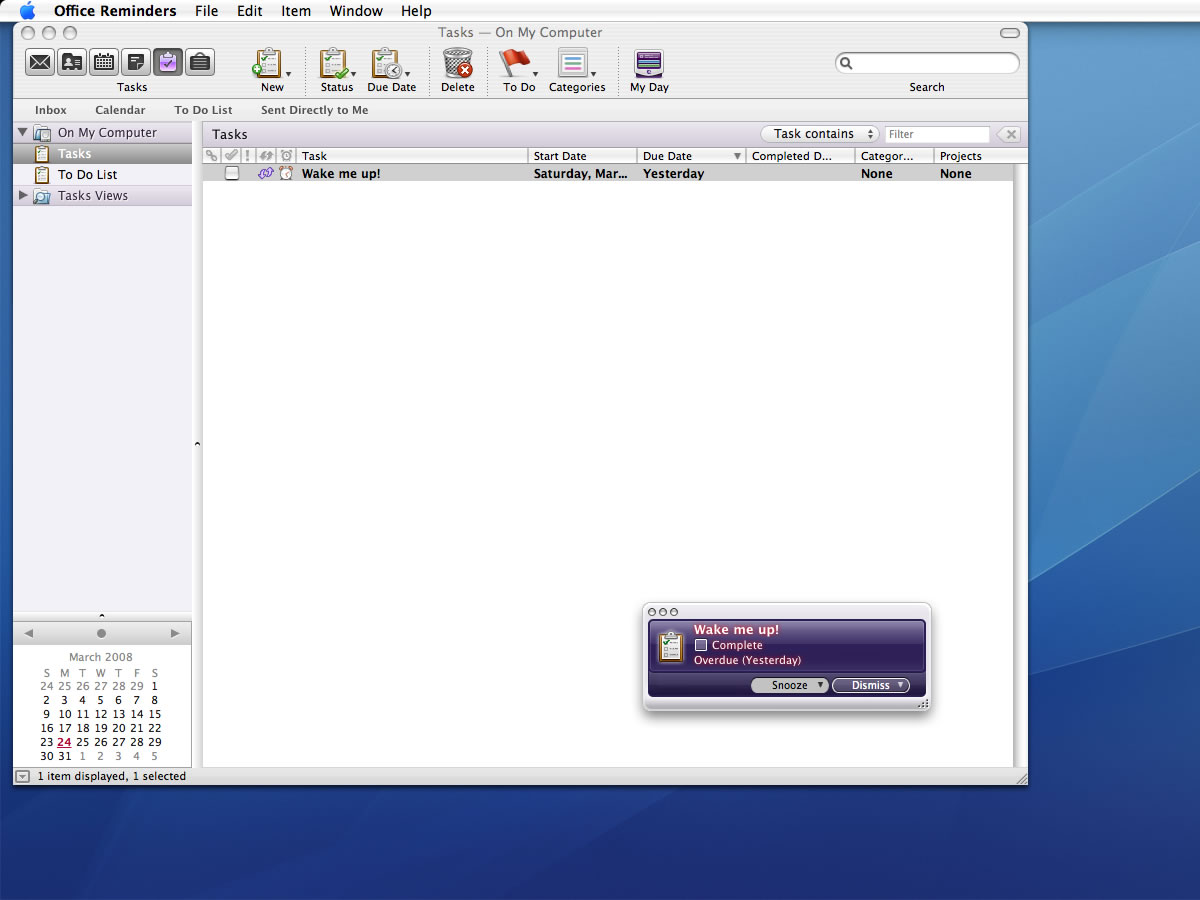 Microsoft Office Entourage 2008 for Mac