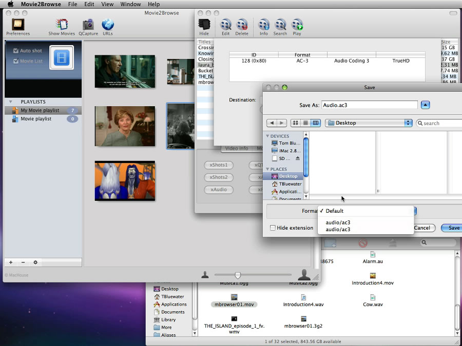 Mac software Movie2Browse