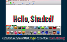 Desktop macOS application Shaded