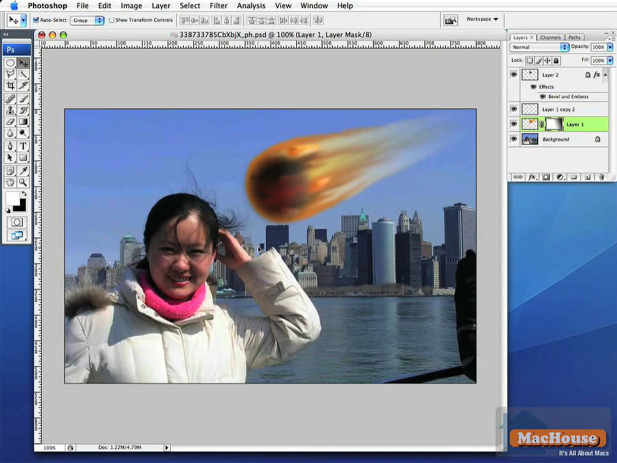Adobe Photoshop Very Simple Tutorial Meteor Over The