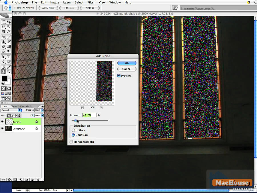 Adobe Photoshop Very Simple Tutorial: Stained Glass