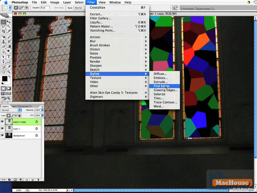 Adobe Photoshop Very Simple Tutorial: Stained Glass | MacHouse Blog